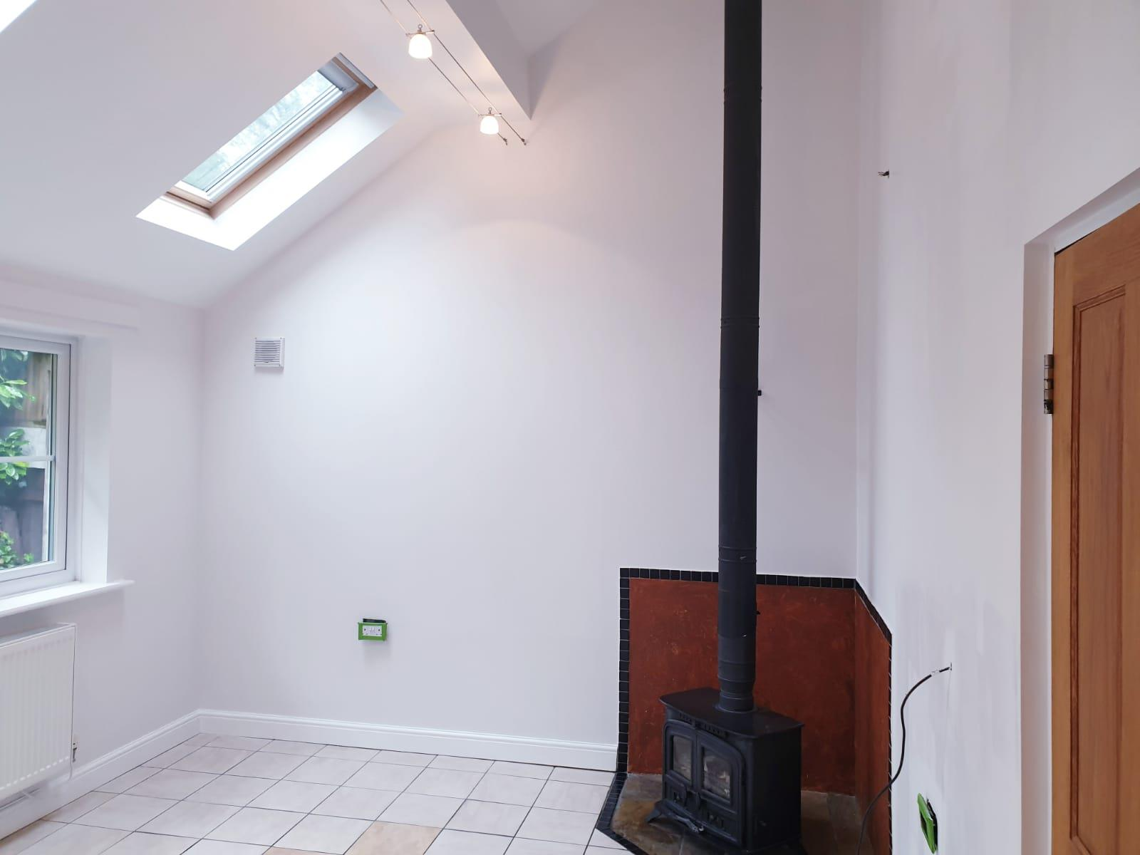 High ceiling room painted