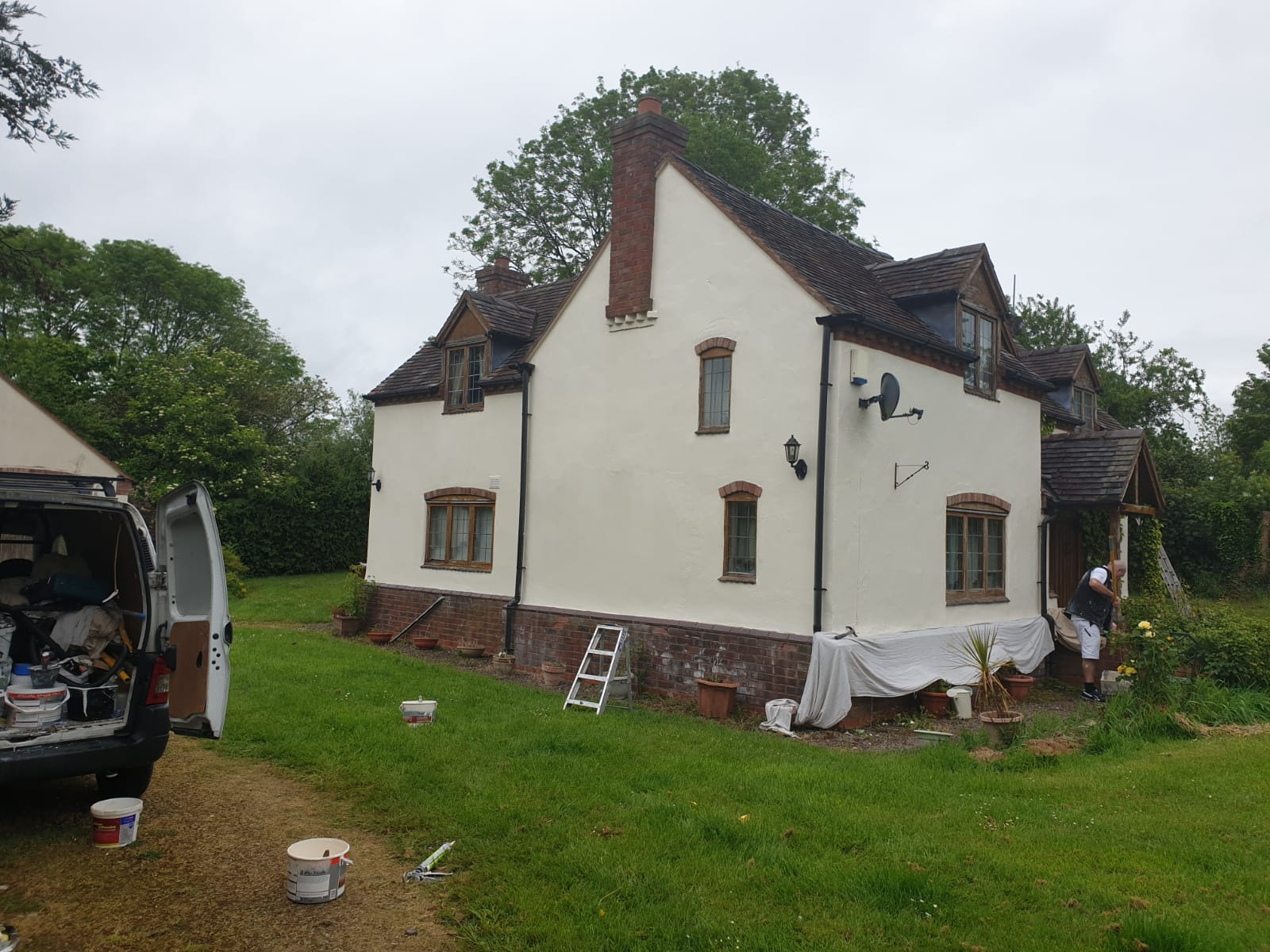 xterior Walls Painted on this Cottage